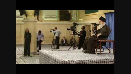 اشک های حاج قاسم سلیمانی در مراسم دیدار با رهبر انقلاب