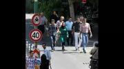 سید محمد موسوی و سعید معروف در خیابان