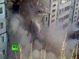 ریزش ساختمان 10 طبقه در روسیه/ 5 کشته 12 زخمی