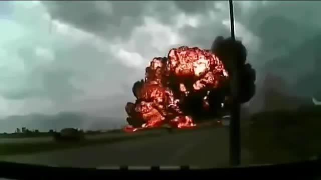 سقوط هواپیمای بویینگ ۷۴۷ چند ثانیه بعد از بلند شدن