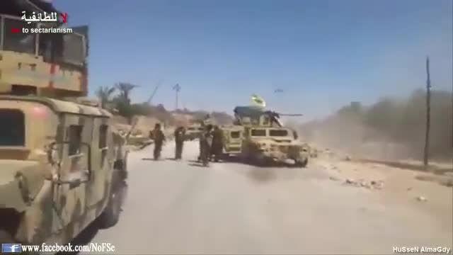 محاصره داعش توسط ارتش و نیروهای مردمی عراق در البغدادی