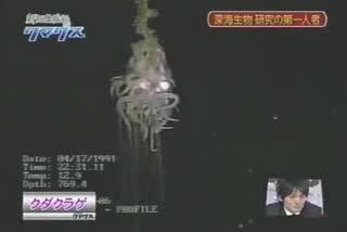 مشاهده موجودی بسیار عجیب و ترسناک در اعماق اقیانوس