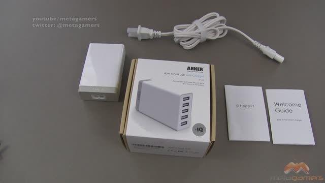 شارژر هوشمند Anker برای شارژ هم زمان پنج موبایل و تبلت