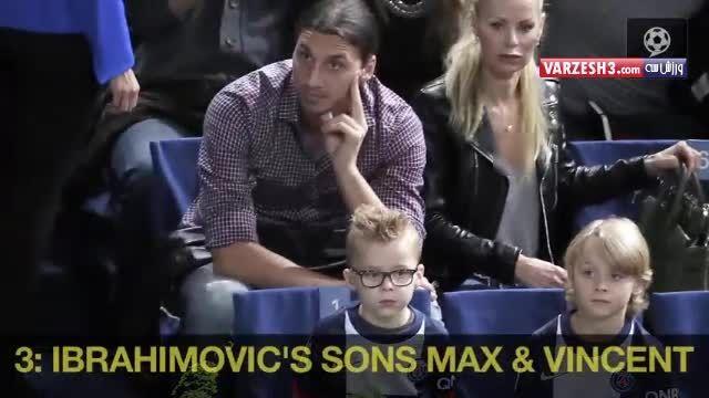 ستارگان فوتبال و فرزندانشان.شبیه خودشون نیستد.