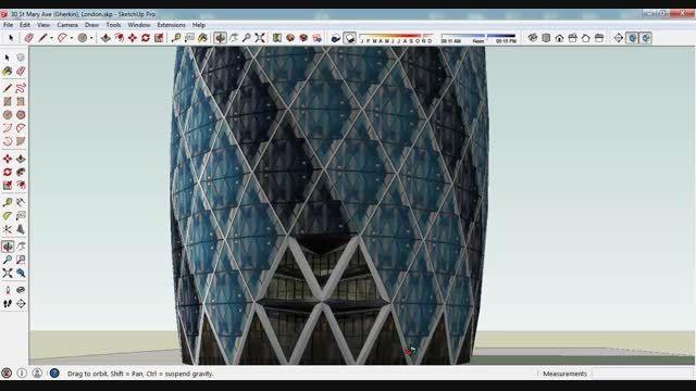 مدل 3 بعدی اسکچاپ برج خیارشور لندن