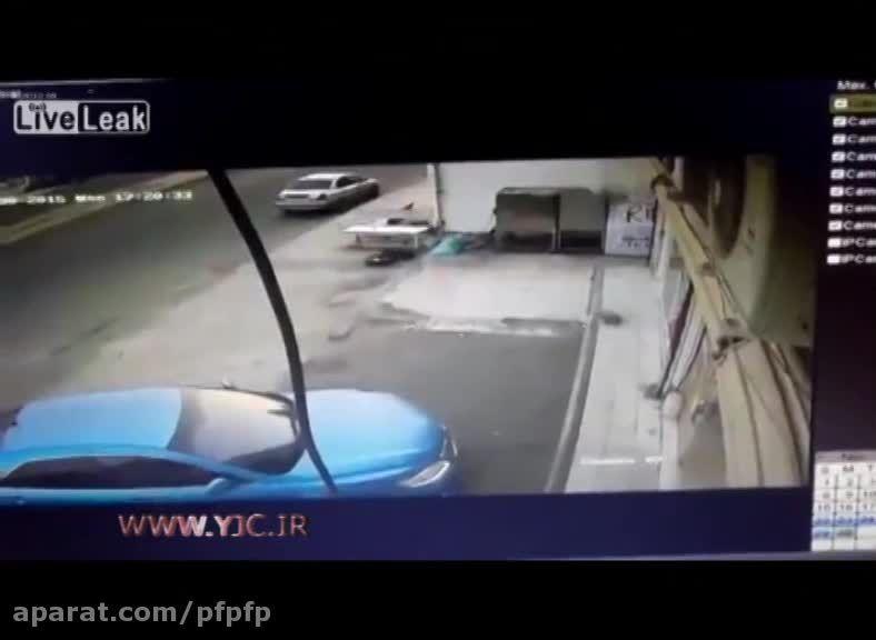 وقتی راننده نمیتونه کنترل کنه