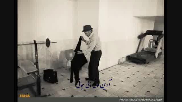 گزارش تصویری زیبا از مسن ترین کشتی گیر ایران