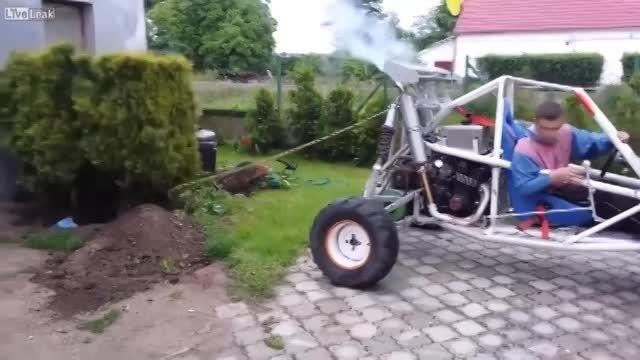 بیرون آوردن بوته با کمک ماشین : بوته ماشین را شکست داد