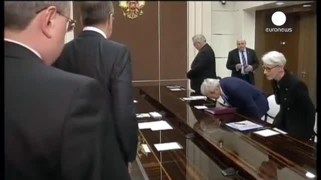 اولین سفر وزیر خارجه آمریکا به روسیه از زمان آغاز بحران