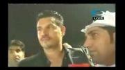 شاخ بازی علی دایی در شبکه ورزشی-عربی