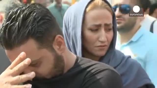 تشییع پیکر غواصان جانباخته در جنگ ایران و عراق در تهران