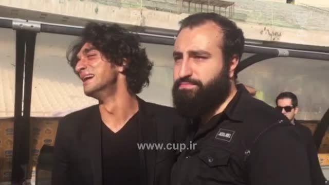 حضور افشارزاده وبازیکنان استقلال در مراسم تشییع  نوروزی