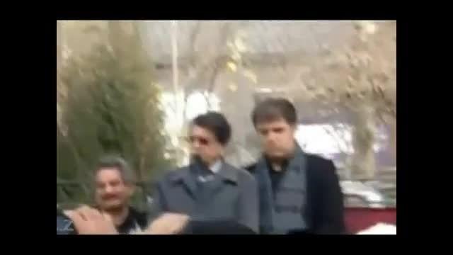 محمدرضا شجریان در مراسم تشیع همایون خرم