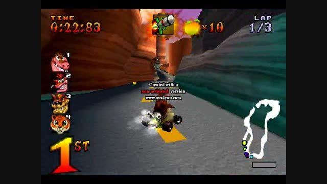 مرحله ی بیابان در بازی ماشینی کراش 1