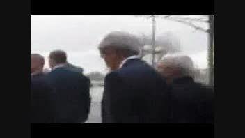 قدم زدن محمد جواد ظریف و جان کری در خیابان های ژنو