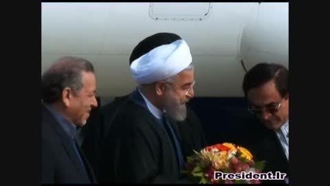 ورود دکتر روحانی به استان اصفهان