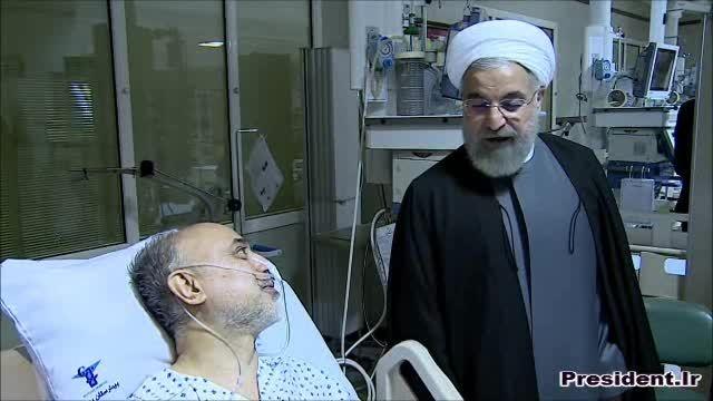 عیادت دکتر روحانی از رییس سازمان انرژی اتمی