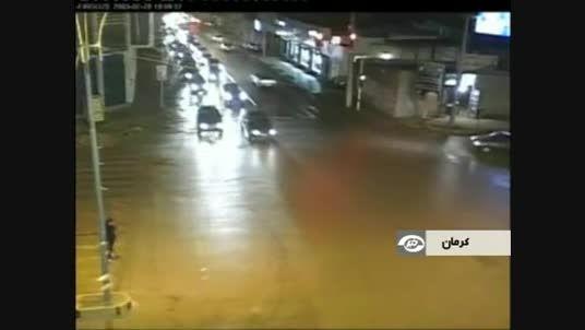 تصادف خطر ناک در کرمان