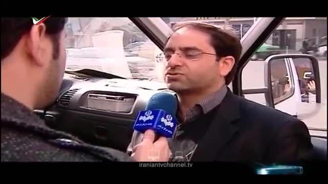 مچ گیری از راننده متخلف آمبولانس اورژانس در تهران