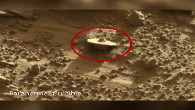 سقوط بشقاب پرنده در مریخ !