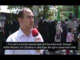 گزارش نصر تی وی از تظاهرات دانشجویان مقابل سفارت سوئیس