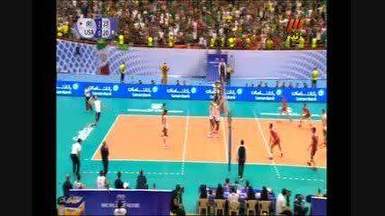 والیبال ایران آمریکا(امتیاز 24 ست آخر)شهرام محمودی