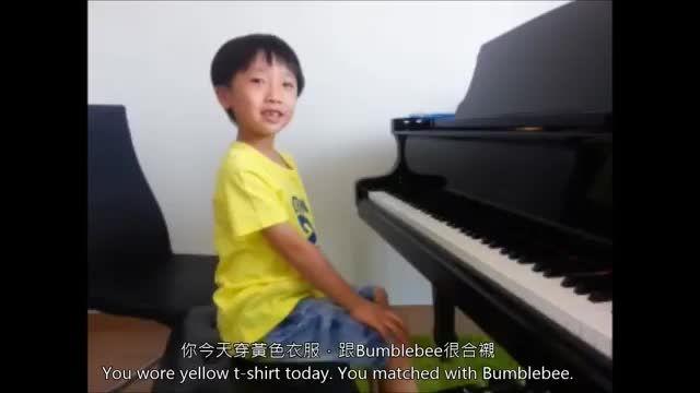 آهنگ کارتون هاج زنبور عسل اجرای پیانو توسط کودک
