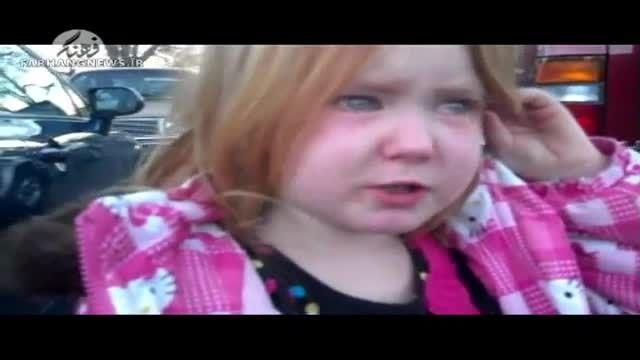 اوباما اشک دختر بچه را درآورد؟
