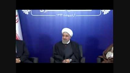 """روحانی : """"ظریف """" """"صالحی""""""""عراقچی"""" آلزایمر دارند"""