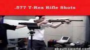 تیراندازی و لگد وحشتناک اسلحه شکاری با کالیبر 577 T-rex