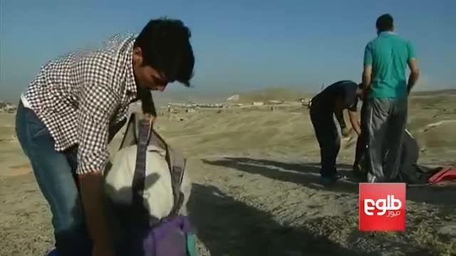 پرواز دختران چترباز افغان در آسمان کابل