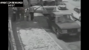 تصادف شدید با دو دختر جوان...