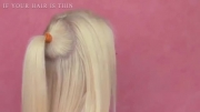 دم اسبی کردن موها به وسیله ی اکستنشن مو