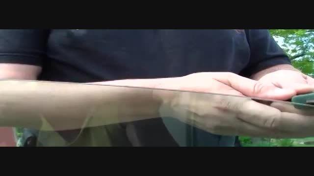 روش های مختلفی برای تیز کرن چاقو در طبیعت