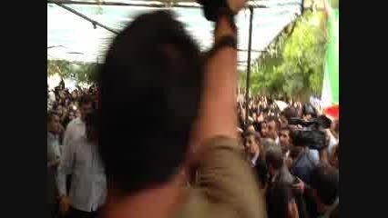 استقبال مردم چلیچه از دکتر احمدی نژاد