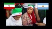 بازیگران ایرانی در برزیل برای تماشای فوتبال