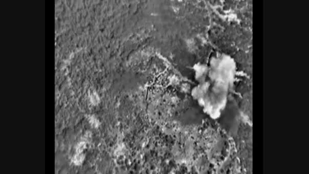 بمباران مواضع داعش توسط هواپیماهای روسی در سوریه