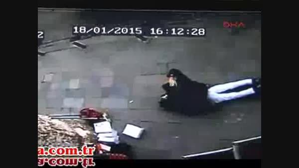 لحظه دستگیری عامل بمبگذاری در استانبول