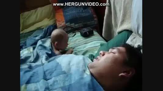 خروپف پدر و وحشت کودک....دیدنیه