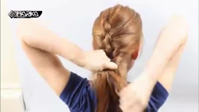 آموزش مدل بافت مو فرانسوی ۴ رشته ای