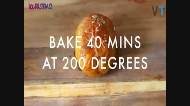پیتزا با سیب زمینی پخته آموزش آشپزی+فیلم کلیپ گلچین صفا