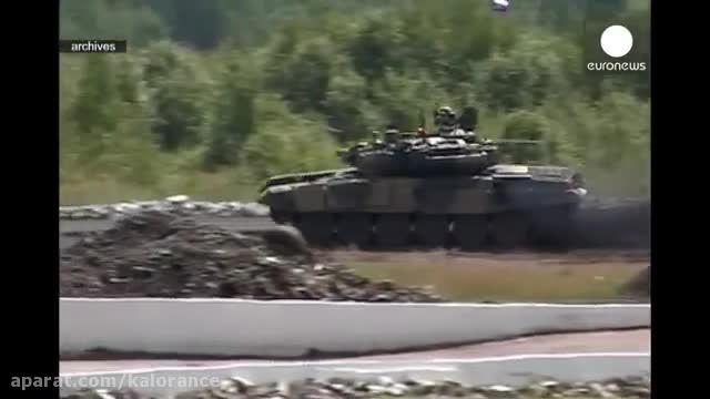 استقرار 7 تانک تی 90 روسیه در سوریه