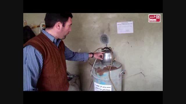 ساخت دستگاه تولید برق و گاز طبیعی توسط جوانان محمدیاری