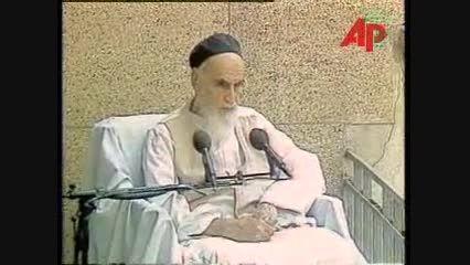 سخنرانی امام خمینی (ره) در جمع اعضای هیأت دولت