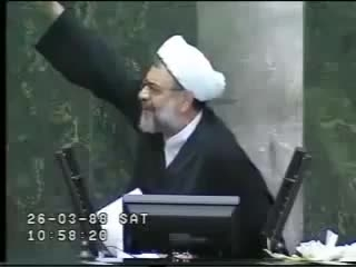 دفاع از موسوی و هاشمی و خاتمی در مجلس