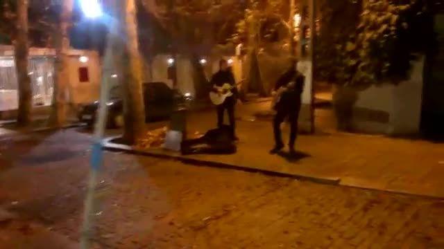اجرای خیابانی کیاکلهر وکسری عزیزا برای کودکان سرطانی
