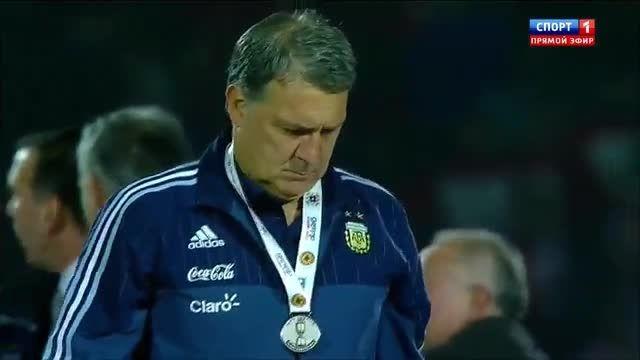 جشن قهرمانی کامل و دیدنی شیلی (فینال کوپا آمریکا)