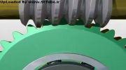 انیمیشن مونتاژ گیربکس پیچ حلزون و چرخ حلزون