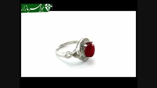 انگشتر عقیق یمن خوش رنگ و جذاب زنانه - کد 6035