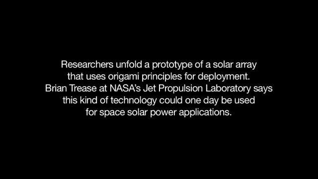 ناسا از هنر اوریگامی برای ساخت فضاپیما الهام می گیرد